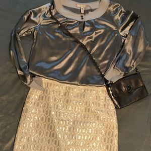 Banana Republic metallic mini skirt size 8